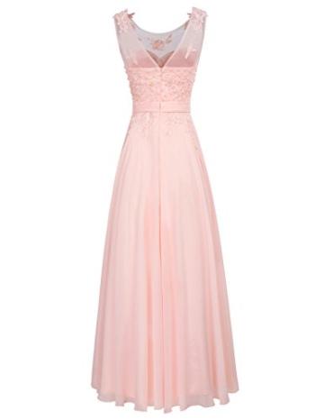 damenkleid a Linie ballkleid rosa Spitze Kleid Elegante Brautkleider Chiffon maxikleid 54 CL670-3 - 3