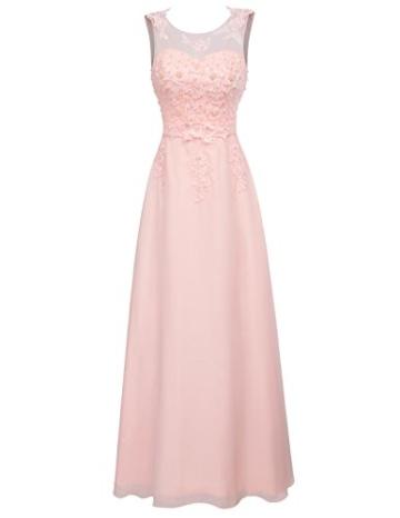 damenkleid a Linie ballkleid rosa Spitze Kleid Elegante Brautkleider Chiffon maxikleid 54 CL670-3 - 1