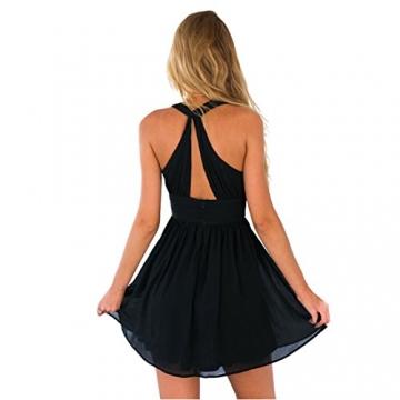 sports shoes 2fab6 089c6 Dantiya Neckholder Kleid mit tiefen V-Ausschnitt schwarz