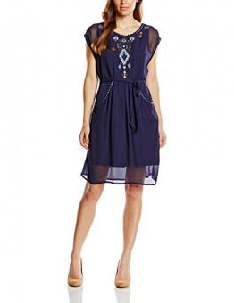 Derhy Damen DekolletiertesKleid, Uni Gr. 36, Blau - Blau (Marineblau) - 1
