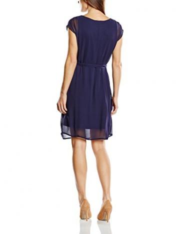Derhy Damen DekolletiertesKleid, Uni Gr. 36, Blau - Blau (Marineblau) - 2