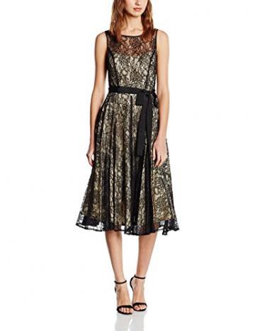 Derhy Damen, Kleid, Aniemen, GR. 36 (Herstellergröße: S), Schwarz (Noir) - 1