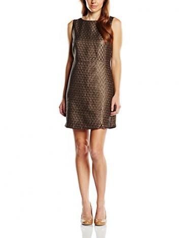 Derhy Damen, Kleid, Antiquité, GR. 40 (Herstellergröße: L), Braun (cognac) - 1