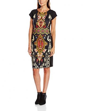 Derhy Damen Kleid, Tierdruck Gr. 42, Schwarz - Schwarz - 1