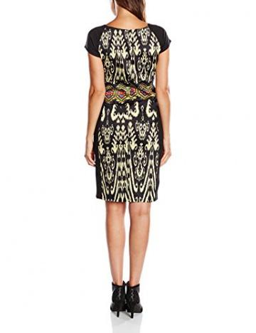 Derhy Damen Kleid, Tierdruck Gr. 42, Schwarz - Schwarz - 2