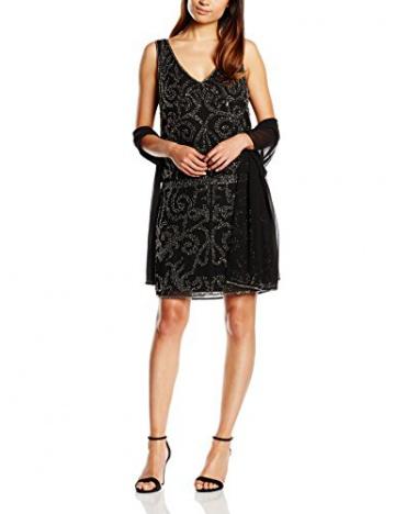Derhy Damen Kleid, Uni Gr. 34, Schwarz - Schwarz - 1
