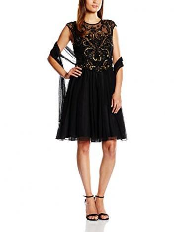 Derhy Damen Kleid, Uni Gr. 36, Schwarz - Schwarz - 1