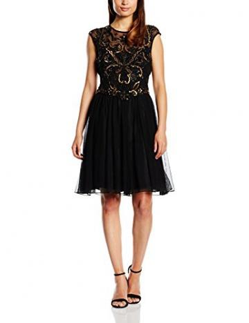 Derhy Damen Kleid, Uni Gr. 36, Schwarz - Schwarz - 3