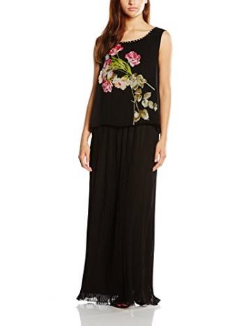 Derhy Damen Plissee Kleid Gr. 38, Schwarz - 1