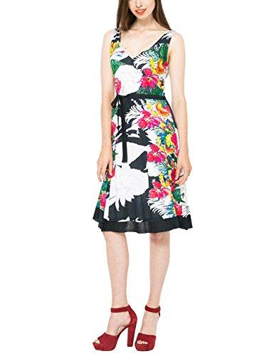best quality online shop special section Desigual Damen A-Linie Kleid HALLEN Knielang Blau