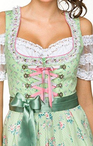 Dirndl 50 cm Länge Cherie - exklusives Trachtenkleid im klassischen Stil der Trachtenmode, ein festliches Kleid für besondere Anlässe, denn moderne Trachten gelten als Fashiontrend Linde, 32 -
