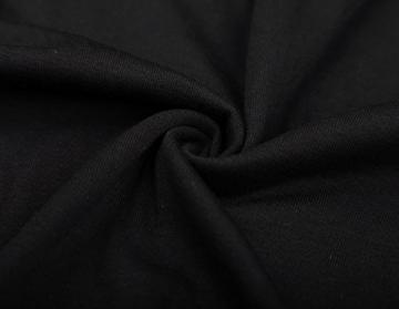 DJT Damen Langarmshirt Sweater Jersey Minikleid Freizeit Bodycon mit Kapuze Schwarz XL - 5