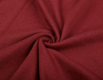 DJT Damen Langarmshirt Sweater Jersey Minikleid Freizeit Bodycon mit Kapuze Weinrot S - 5