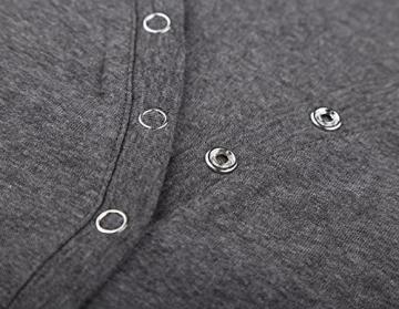 DJT Damen Langarmshirt Sweater Jersey Minikleid Freizeit Bodycon Dunkelgrau M - 3