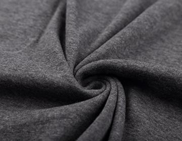 DJT Damen Langarmshirt Sweater Jersey Minikleid Freizeit Bodycon Dunkelgrau M - 4