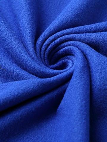 DJT Damen Vintage Sommerkleid Traeger mit Flatterndem Rock Blumenmuster Blau-2 XL - 3