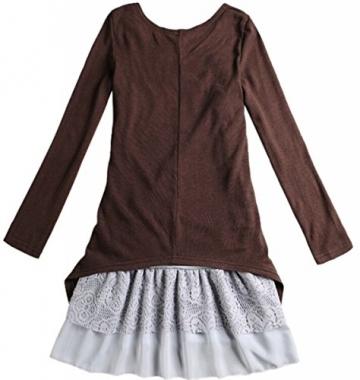 Doukia Mode Damen Strickkleider Kleidung Damenbekleidung Oberteile (Small, Coffee) - 4