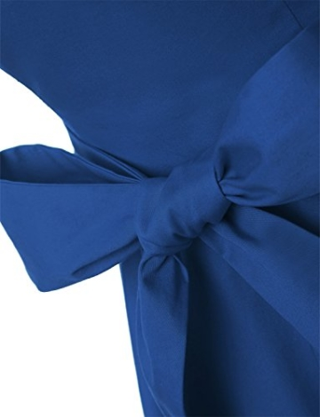 Dressystar Damen Vintage 50er Cap Sleeves Dot Einfarbig Rockabilly Swing Kleider L Royal Blau - 6