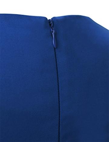 Dressystar Damen Vintage 50er Cap Sleeves Dot Einfarbig Rockabilly Swing Kleider L Royal Blau - 7