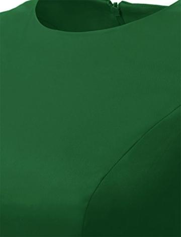 Dressystar Damen Vintage 50er Cap Sleeves Dot Einfarbig Rockabilly Swing Kleider S Armeegrün - 5