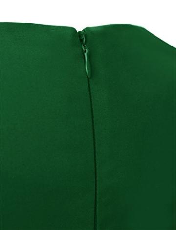 Dressystar Damen Vintage 50er Cap Sleeves Dot Einfarbig Rockabilly Swing Kleider S Armeegrün - 7
