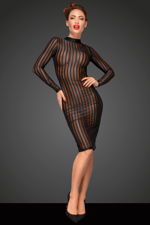 Durchsichtiges Kleid in Schwarz - Sexy-Kleider.com