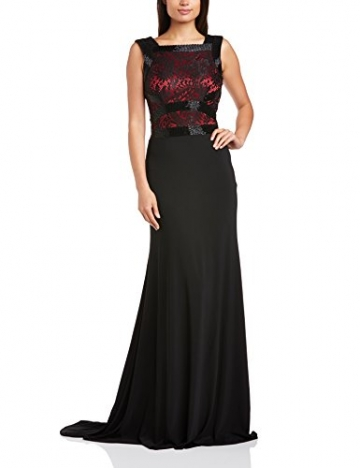 Dynasty Damen Column Kleid 1012505 Evening Dress Maxi, Schwarz, 32 - 1