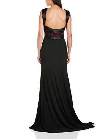 Dynasty Damen Column Kleid 1012505 Evening Dress Maxi, Schwarz, 32 - 2