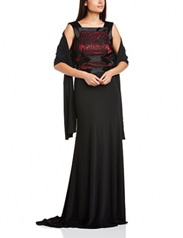 Dynasty Damen Column Kleid 1012505 Evening Dress Maxi, Schwarz, 32 - 3