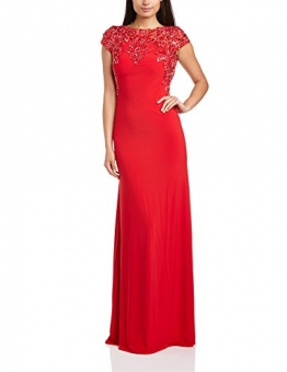 Dynasty Damen Column Kleid 1012517 Evening Dress Maxi, Gr. 34, Rot - 1