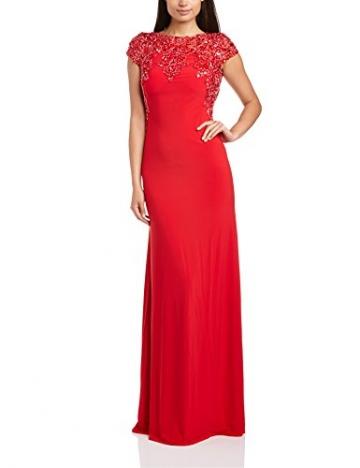 Dynasty Damen Column Kleid 1012517 Evening Dress Maxi, Gr. 34, Rot - 1