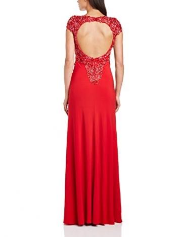 Dynasty Damen Column Kleid 1012517 Evening Dress Maxi, Gr. 34, Rot - 2