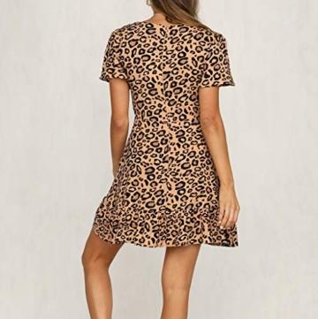 ♥ Loveso♥ Damen Fashion Leopard Drucken Minikleid Frauen Sexy Partykleid - 6