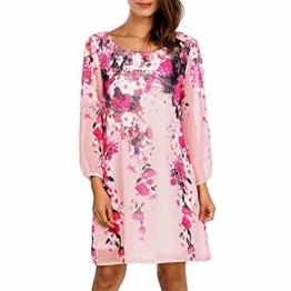 ✿✿ Amlaiworld Sommer Strand locker Dress Blumen drucken Mini Kleider Mode Party Kleid Damen Rundhals Abendkleider - 1