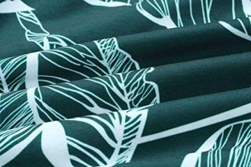 ECOWISH Blumenkleid Damen Sommerkleider Kurz Ärmellos Strandkleider Partykleid Träger Rückenfreies kleider Grün XL - 7