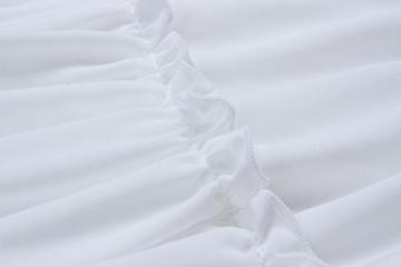 ECOWISH V Ausschnitt Kleid Damen Spitzenkleid Träger Rückenfreies Kleider Sommerkleider Strandkleider Weiß L - 7