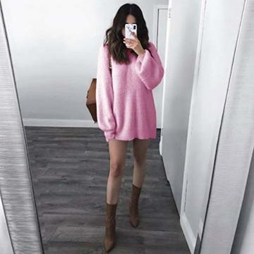 Elecenty Damen Langarmkleid Schulterfrei Partykleid Bodycon Minikleid  Mantel Solide Rock Mädchen Kleider Frauen Mode Kleid Kleidung f9f0800c57