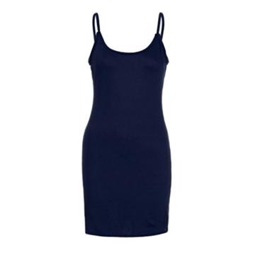 Elecenty Damen Sommerkleid solide Rock Mädchen Reizvolle Kleider Frauen Mode Ärmellos Kleid Hüfte Minikleid Kleidung Abendkleider Partykleid Hemdkleid Blusekleid Sweatshirt (L, Marine) - 5