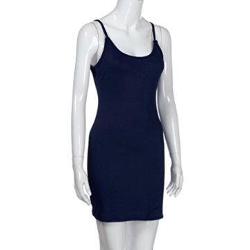 Elecenty Damen Sommerkleid solide Rock Mädchen Reizvolle Kleider Frauen Mode Ärmellos Kleid Hüfte Minikleid Kleidung Abendkleider Partykleid Hemdkleid Blusekleid Sweatshirt (L, Marine) - 6
