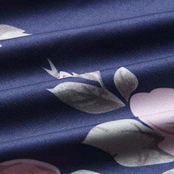 Elecenty Damen V-Ausschnitt Strandkleid Irregulär Sommerkleid Rock Mädchen Blumen Drucken Abendkleider Kleider Frauen Mode Ärmellos Kleid Minikleid Knielang Kleidung (L, Blau) - 5
