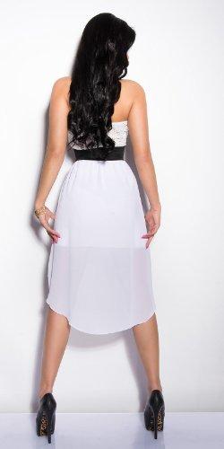 Elegantes KouCla Bandeau-Kleid mit Spitze in 7 fantastischen Farben (Einheitsgröße 34-38) Sexy Bustierkleid Minikleid (Weiss) - 2
