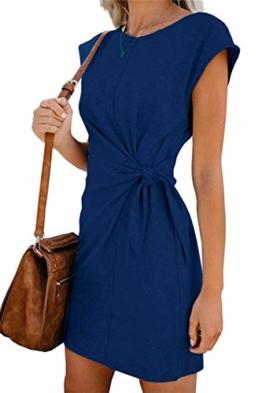 Elegantes Sommerkleid Blau - Mini und ärmellos 1