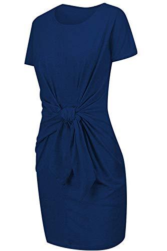 Elegantes Sommerkleid Blau - Mini und ärmellos 2