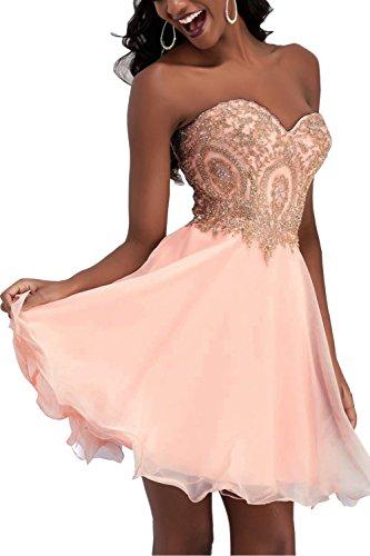 Abendkleider in rosa kurz