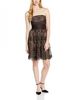 ESPRIT Collection Damen Cocktail Kleid hochwertige Spitzenverzierung, Mini, Gr. 40 (Herstellergröße: L), Braun (TAUPE 240) -