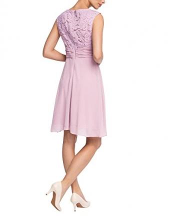 ESPRIT Collection Damen Kleid fließende Chiffon Qualität, Knielang, Gr. 36, Violett (LILAC 560) -