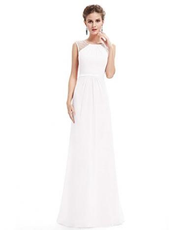 promo code 3d0e7 e9ca7 Ever Pretty Weißes Langes Abendkleid