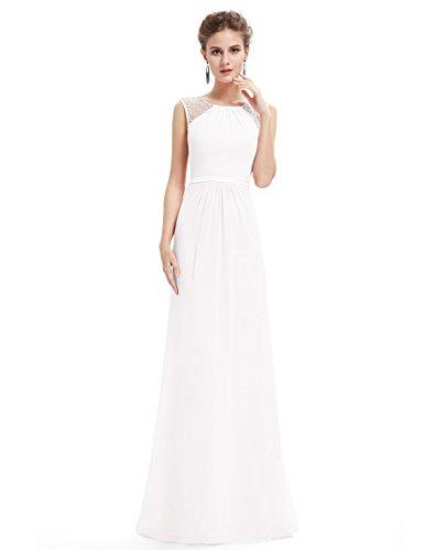 promo code c0755 82b35 Ever Pretty Weißes Langes Abendkleid