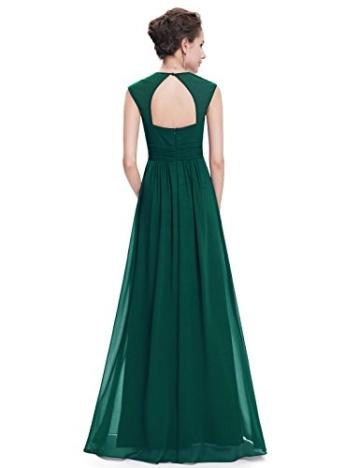 Ever Pretty Damen Elegant V-Ausschnitt Ärmellos Lang Abendkleid 40 Größe Dunkel Grün - 2