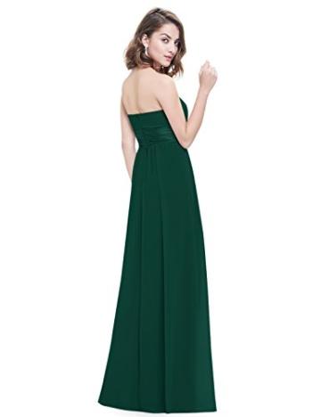 Ever Pretty Damen Empire Taille Schulterfrei Lange Abendkleider Brautjungfernkleid 36 Größe Dunkelgrün - 3